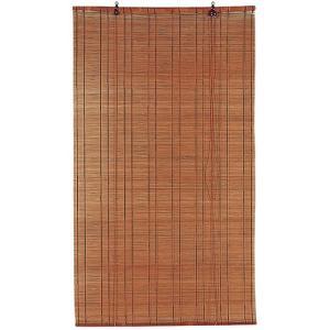 ロールスクリーン 遮光 既製品 竹製 サイズ 横幅88cm×高さ170cm B−167−BR|shikimonoya5o5o
