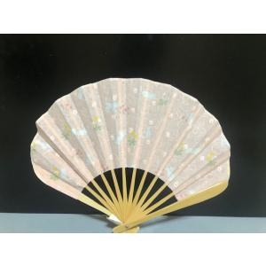 Neko 紋 扇子 ピンク  扇子 レディース おしゃれ 和装小物 せんす 和雑貨 うちわ 和風扇子|shikisaikan