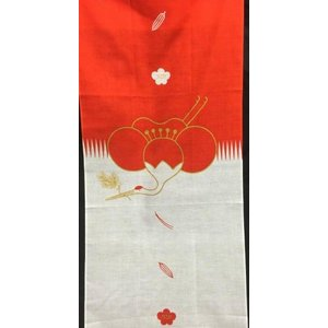 祝い文手拭い 紅白シリーズ 福鶴 約30×35cm 綿100% 京友禅 お祝い お礼|shikisaikan