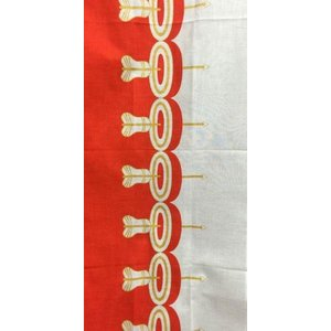 祝い文手拭い 紅白シリーズ 的矢 加藤萬 約30×35cm 綿100% 京友禅 お祝い お礼|shikisaikan