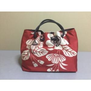 栗山紅型 正絹帯地和装バッグ 池田桜|shikisaikan