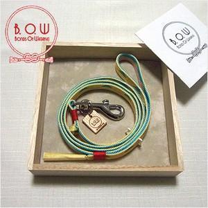 B.O.W 平紐の引き綱 リード 平紐引き綱 鱗文様 支子 正絹 日本製 送料無料|shikisaikan