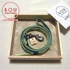B.O.W 平紐の引き綱 リード 平紐引き綱 鱗文様 白緑 正絹 日本製 送料無料|shikisaikan