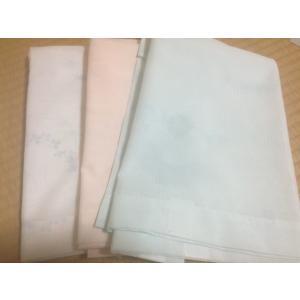 「衿秀」き楽っく専用 絽目 夏用白地に葉の柄 袖マジック付 日本製ブルー ピンク 白 shikisaikan