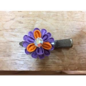 つまみ細工 紫 色のカラフルクリップピン|shikisaikan
