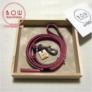 B.O.W 平紐の引き綱 リード 平紐引き綱 鱗文様 苺色 正絹 日本製 送料無料  御揃いの帯締めあります|shikisaikan