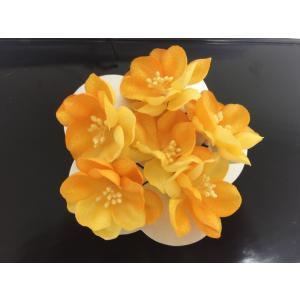 可愛い 花のUピン 髪飾り  黄色|shikisaikan