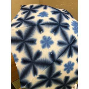 藤井絞り 日傘 濃いブルー|shikisaikan