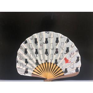 Neko 祝い紋 扇子 メンズ レディース おしゃれ 和装小物 せんす 和雑貨 男性 うちわ 和風扇子|shikisaikan