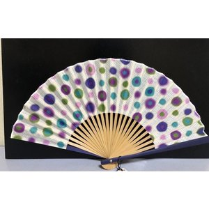 扇子 女性用 水玉扇子袋付き 敬老の日 プレゼント|shikisaikan