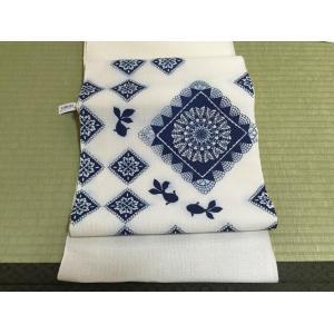 召しませ花》お仕立て上がり夏の八寸名古屋帯 麻織夏帯 手描き友禅 金魚|shikisaikan
