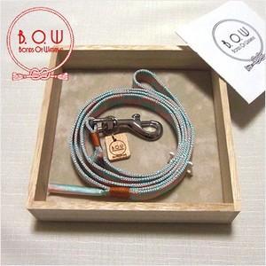 B.O.W 平紐の引き綱 リード 平紐引き綱 石畳文様 退紅 正絹 日本製 送料無料|shikisaikan