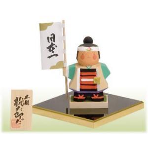 一刀彫り木彫五月人形(桃太郎だ)|shikisaikan