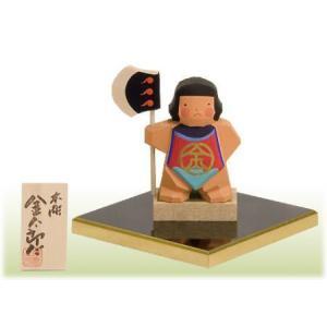 一刀彫り木彫五月人形 金太郎だ  こどもの日 御祝 shikisaikan