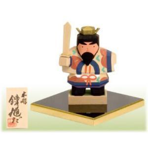 一刀彫り木彫五月人形 鐘馗だ  こどもの日 御祝 shikisaikan