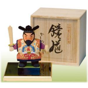 一刀彫五月人形 鐘馗桐箱付  こどもの日 御祝 shikisaikan