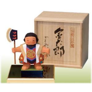 一刀彫五月人形 金太郎桐箱付  こどもの日 御祝 shikisaikan
