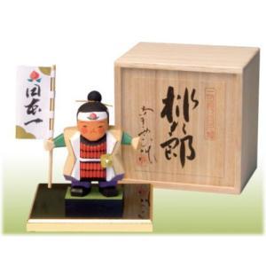 一刀彫五月人形(桃太郎桐箱付)|shikisaikan