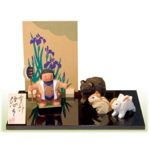一刀彫五月人形金太郎 悠々 こどもの日 御祝 shikisaikan