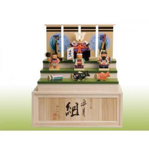木製 一刀彫り木彫五月人形 皐月 組  名入れ 送料無料 shikisaikan