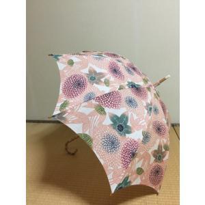 【栗山吉三郎工房】 特選本麻型染め日傘 笹に菊|shikisaikan