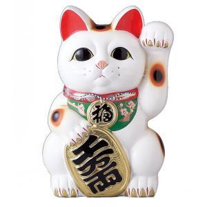 お客を招く左手を上げた招き猫です。 お店の開店祝いや改装オープンの御祝いなどにおすすめの招き猫です。...