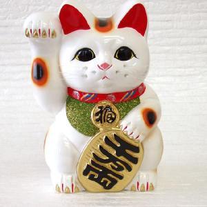 お金を招く右手を上げた招き猫です。 お店の開店祝いや改装オープンの御祝いなどにおすすめの招き猫です ...