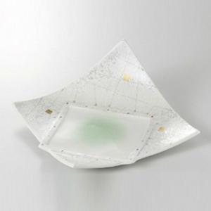 中皿 前菜皿 一方上り9.0皿 涼彩 27cm 和食器 業務用 美濃焼 9b029-04