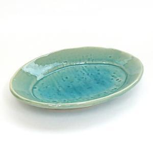 中皿 楕円リム皿 トルコ貫入 17cm 業務用 和食器 美濃焼 9b180-29