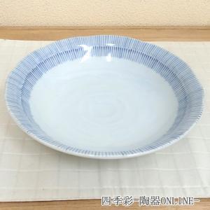 美濃焼の和食器の丸い深皿。  サイズ:W21.5×H4.7cm 材質:磁器 日本製(美濃焼) 電子レ...