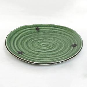 サイズ:W24.5×D22.6×H3.2cm 材質:磁気 日本製(美濃焼) 電子レンジ食洗器可 ※焼...