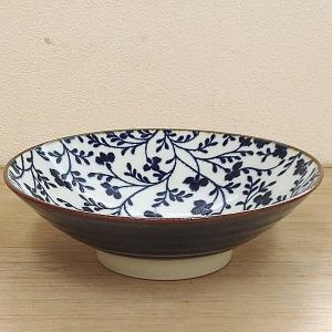 盛鉢 おふけ草花8.0麺鉢 美濃焼 和食器