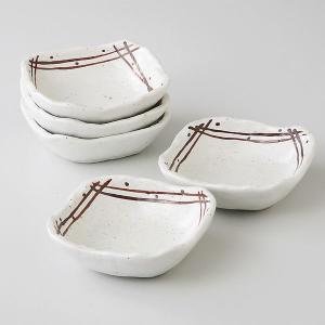 シンプルなデザインの和食器の四角の小鉢5個セットです。   内 容:角鉢×5 サイズ:W10.5×H...