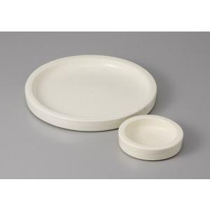 刺身皿と醤油小皿のセット。多彩な料理に対応できる業務用和食器です。 サイズ:切立6.5平皿:W20....