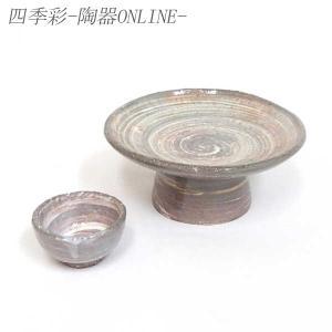 刺身皿と醤油小皿のセット。多彩な料理に対応できる業務用和食器です。 サイズ:高台向付:W15.2×H...