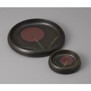 刺身皿とちょこのセット 備前草紋 土物 醤油皿 和食器 業務用 美濃焼  9a23-11-12