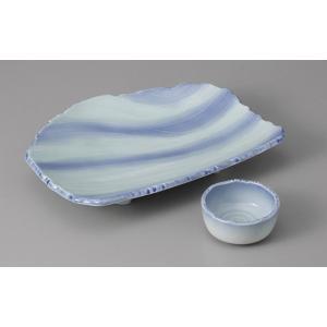 刺身皿と醤油小皿のセット。多彩な料理に対応できる業務用和食器です。 サイズ:6.0皿:W18.5×D...