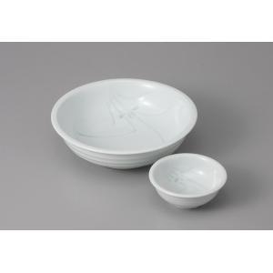 刺身皿と醤油小皿のセット。多彩な料理に対応できる業務用和食器です。 サイズ:向付:W15.5×H4....
