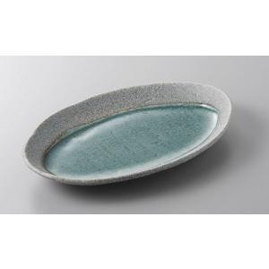 焼物皿 月光グレーの月7.0楕円皿 23cm 和食器 業務用 美濃焼 9a385-4-32g