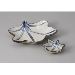 刺身皿と醤油小皿のセット。多彩な料理に対応できる業務用和食器です。 サイズ:刺身鉢:W19.5×D1...