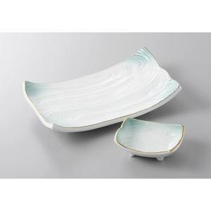 焼き物皿と小皿のセット 金彩ヒワ吹 強化磁器 和食器 業務用 美濃焼  9a220-1-2