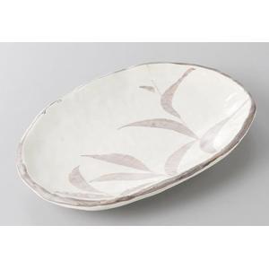 中皿 楕円皿 志野芦6.0小判皿 18cm 和食器 業務用 美濃焼 9a261-15-71g