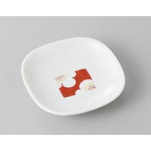 小皿 白梅四方姫皿 豆皿 8.5cm おしゃれ 和食器 業務用 美濃焼 7a271-14-93f shikisaionline