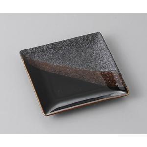 小皿 平成型黒塗り分け正角皿 豆皿 9.5cm おしゃれ 和食器 業務用 美濃焼 7a272-25-32f shikisaionline