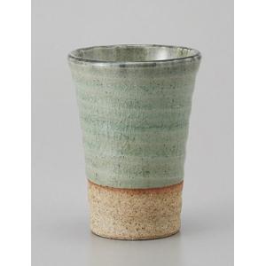 ビールカップ 灰釉 土物 陶器 フリーカップ 業務用 美濃焼...