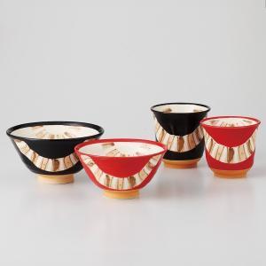 夫婦茶碗と湯呑みのセット 釉彩帯 箱入り ギフト プレゼント 7a37-1|shikisaionline