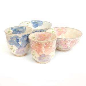 夫婦茶碗と湯呑みのセット 花束 箱入り ギフト プレゼント 7a98-4|shikisaionline