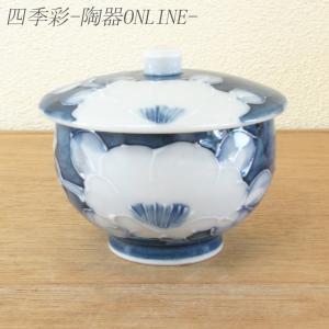 蓋付き湯のみ 白盛山茶花 美濃焼 shikisaionline