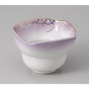 小鉢 武蔵野 四方小鉢 紫 和食器 業務用 美濃焼 9a78-26-77g