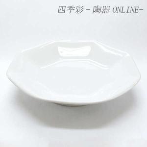 八角皿 高台 18.8cm 白中華 中華食器 チャーハン皿 白い食器 業務用|shikisaionline